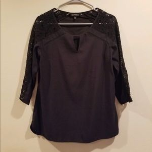 Express lacey sleeve top
